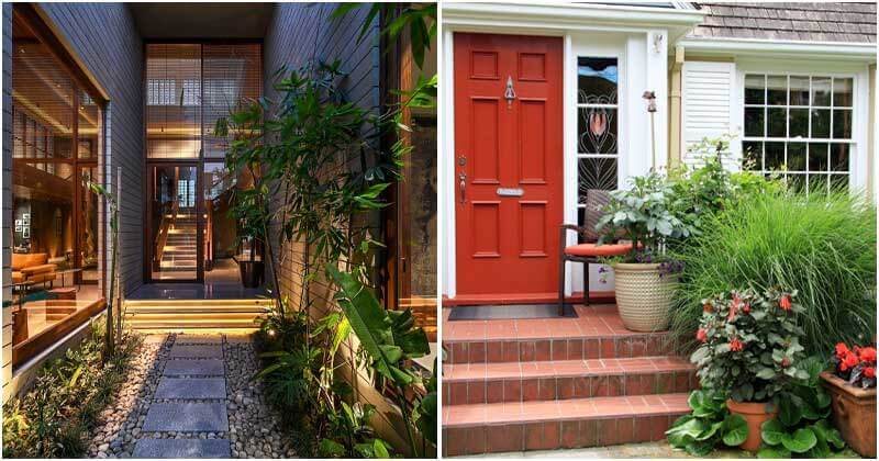 24 Beautiful Entrance Decoration Ideas with Plants