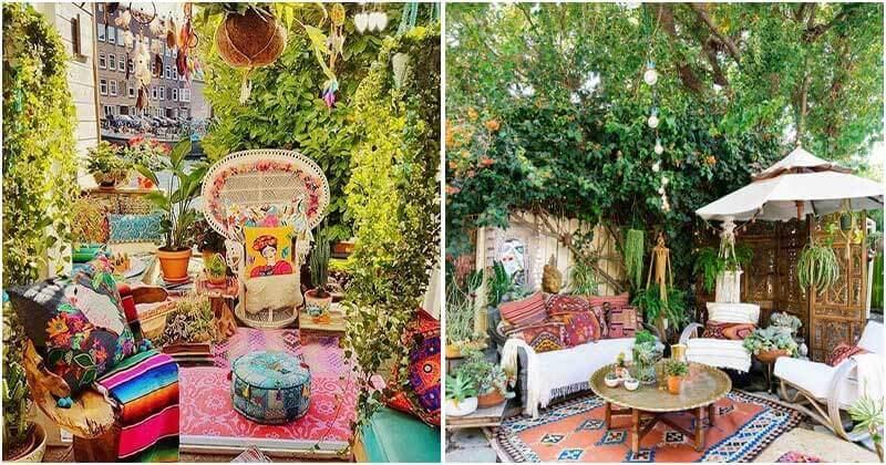 17 Absolutely Dreamy Bohemian Garden Design Ideas