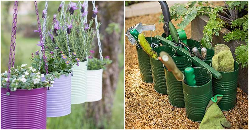 21 Amazing DIY Tin Can Ideas For Your Garden